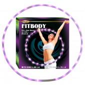 "Хула Хуп / Обруч ""FITBODY"", с 22 ЛЕД (пурпурный свет), Д-70 см, FH-12205"