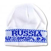 """Шапка """"Россия"""" гжель, FA-0051"""