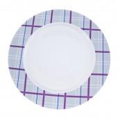 """Фарфоровая тарелка """"Квадратный узор"""""""