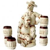 """Керамический набор для напитков """"Сваты"""" 7 предметов"""
