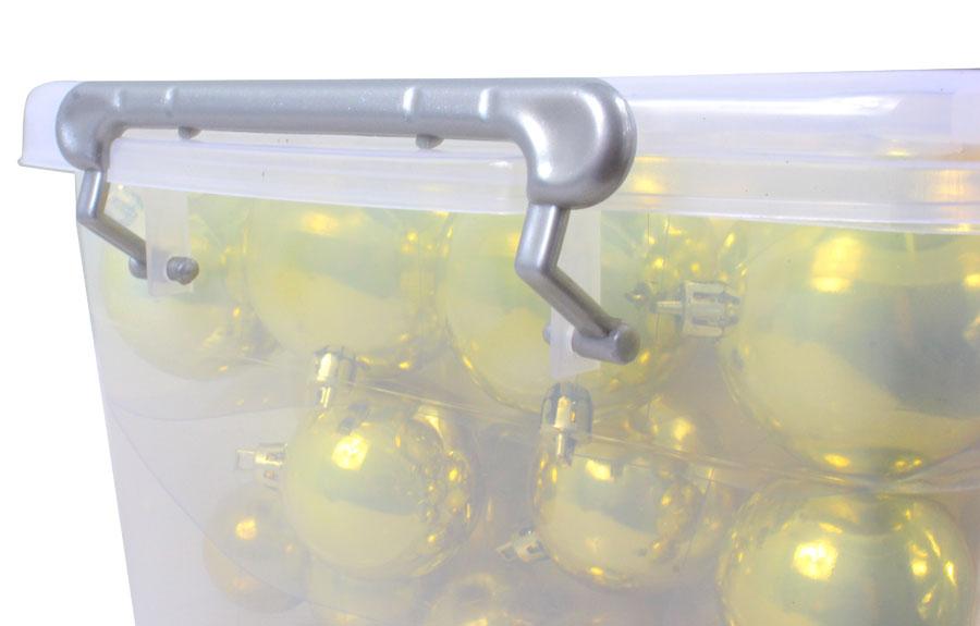 Aufbewahrungsbox Weihnachtskugeln.Weihnachtskugeln In Gold Optik In Aufbewahrungsbox 70 Stück Wk 31244